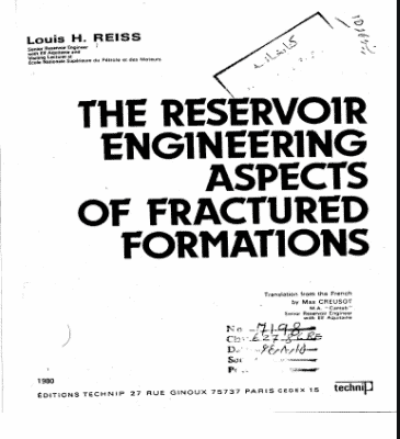 The Reservoir Engineering Aspects of Fractured Formations PDF
